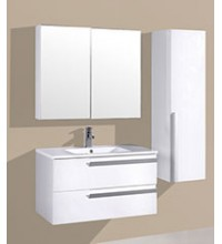 MIRROR FRAM, BASIN & CARBINET - YH-61