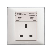 UNIVERSAL SWITCH - P-2U13C with 2 USB Power